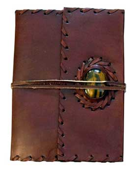 Leather blank book w/ cord