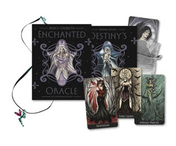 Enchanted Oracle deck and book by Barbara Moore and Jessica Galbreth