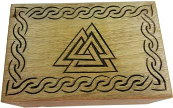 Triangle Wood Box 4 X 6 Fbm46c 1395 Wiccan Witchcraft New