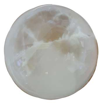 "5"" White Selenite crystal ball"