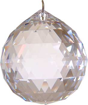 20 mm Clear faceted crystal ball