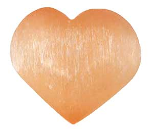 2 3/4 Orange Selenite heart