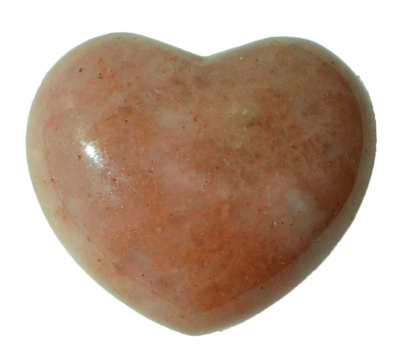 "1 3/4"" Strawberry Quartz heart"
