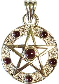 Wiccan and witch pendants and charms wiccan witchcraft new age jpeng 1 pentagram garnet aloadofball
