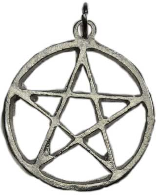Medium Pewter Pentagram