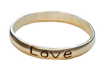 Love Band ring size 10 sterling