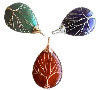 Tree of Life Wire Wrapped (various stones)