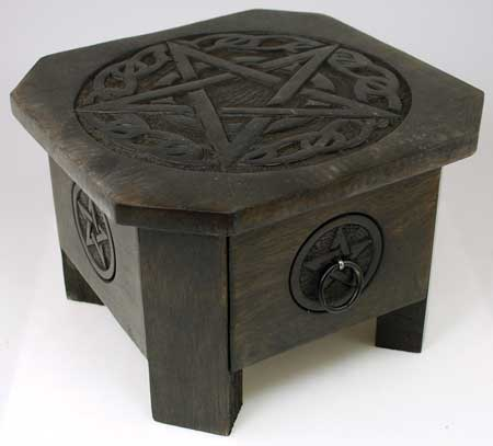 Celtic Pentagram altar table