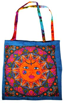 "18"" x 18"" Multi Color Sun tote bag"