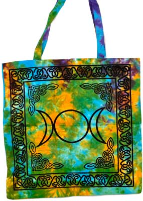 Triple Goddess Moon tote bag