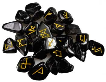 Black Tourmaline rune set
