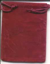 Bag Velveteen 3 x 4 Burgundy