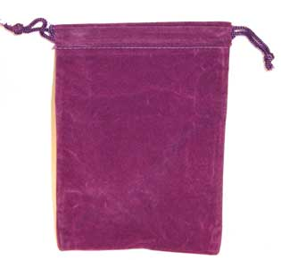 Bag Velveteen 4 x 5 1/2 Purple