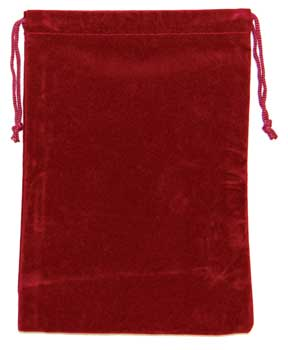 Bag Velveteen: 5 x 7 Burgundy