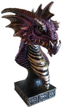 "6 1/2"" purple Dragon Head"