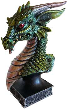 "6 1/2"" green Dragon Head"