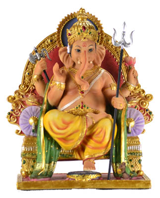 "8"" Ganesha on Throne"