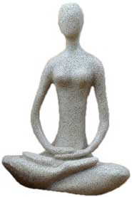 "8"" Lotus Yoga Goddess sandstone"