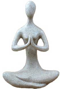 "8"" Meditative Yoga Goddess sandstone"